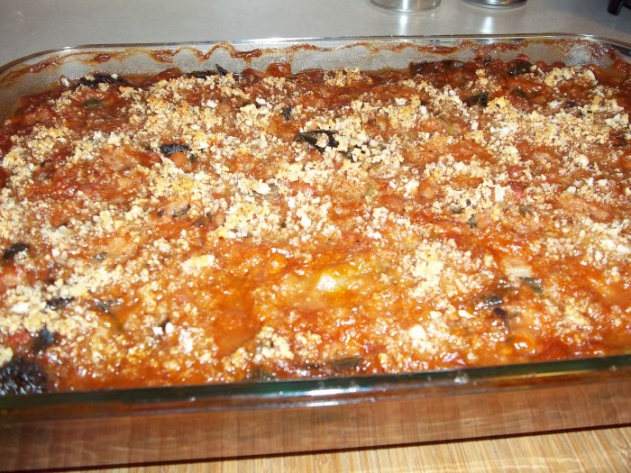 BAKED BEANS AND GREENS CASSEROLE