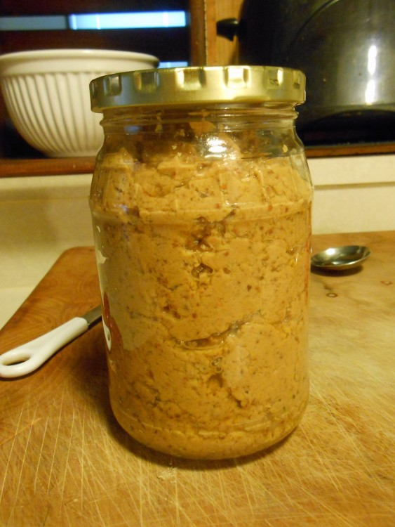 PEANUT BUTTER AND STONE GROUND MUSTARD SPREAD