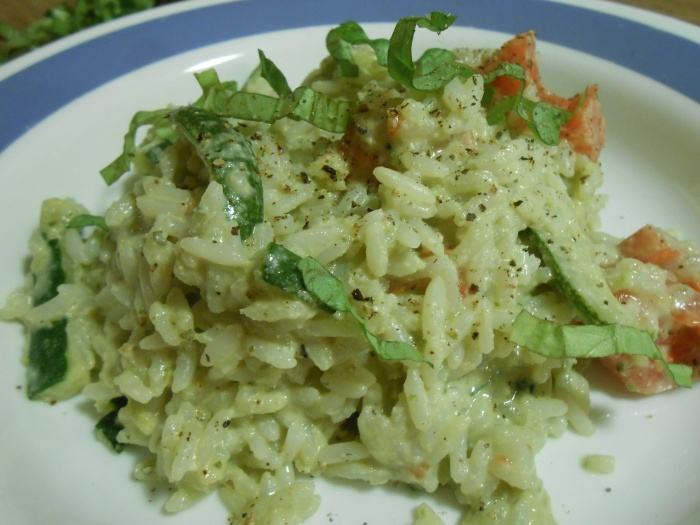 PINE NUT PESTO RISOTTO