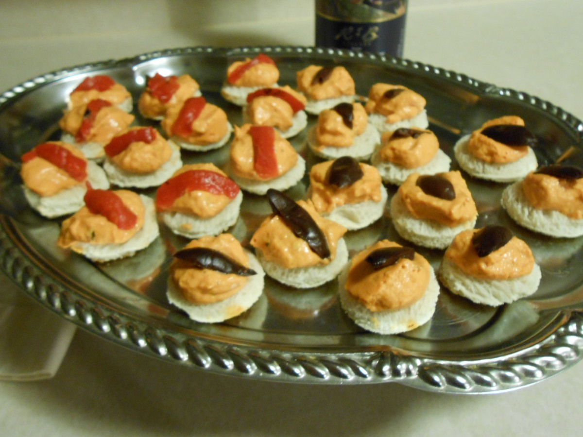ROASTED PEPPER CASHEW CHEESE HORSD'OEUVRES