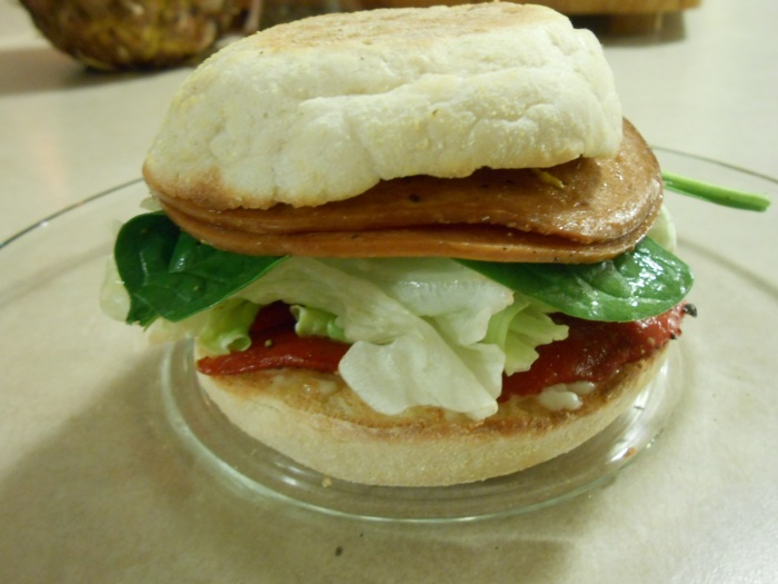 FRIED VEGGIE BOLOGNA SANDWICH
