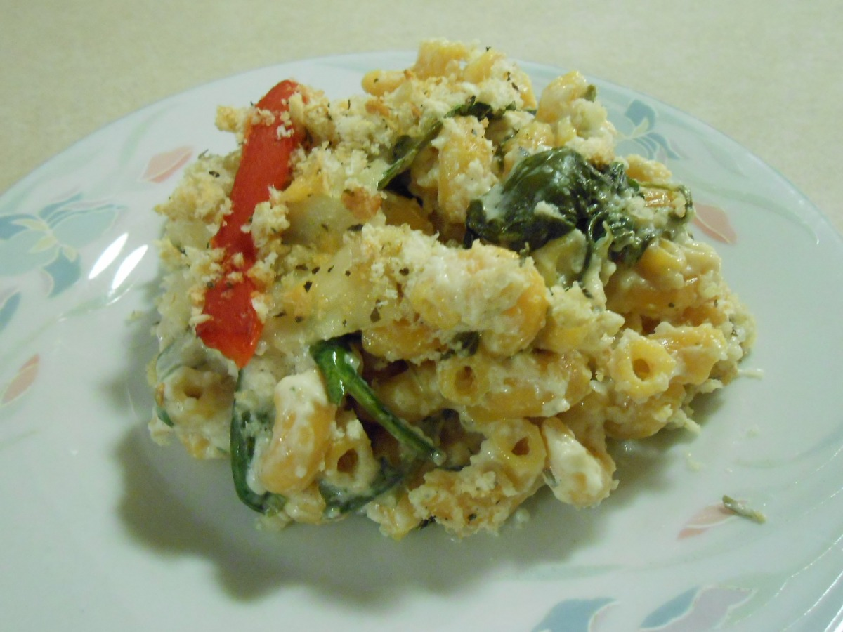 VEGGIE MAC AND CHEESE FLORENTINE