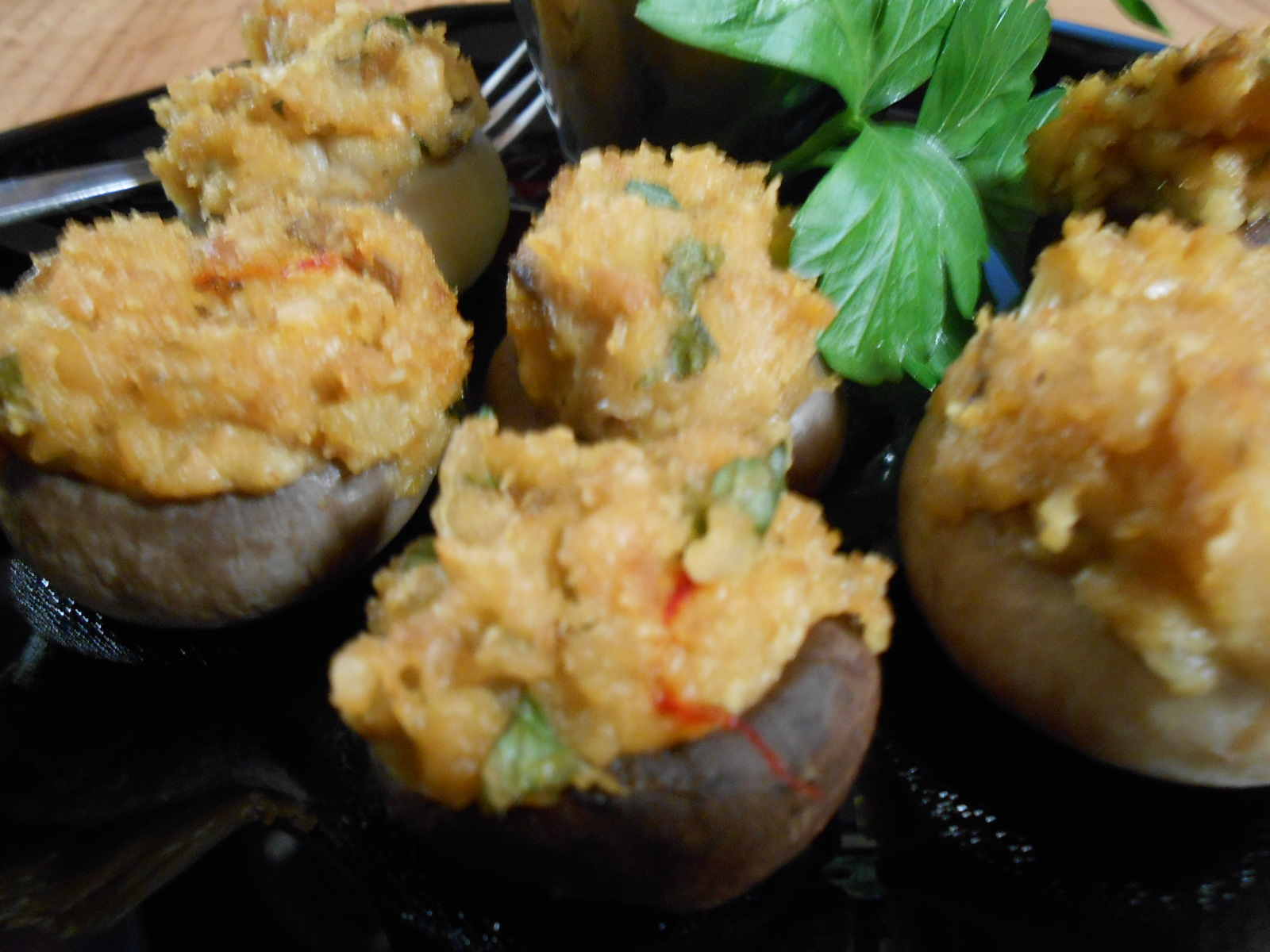 SHARON'S PEARL OYSTER STUFFED MUSHROOMS