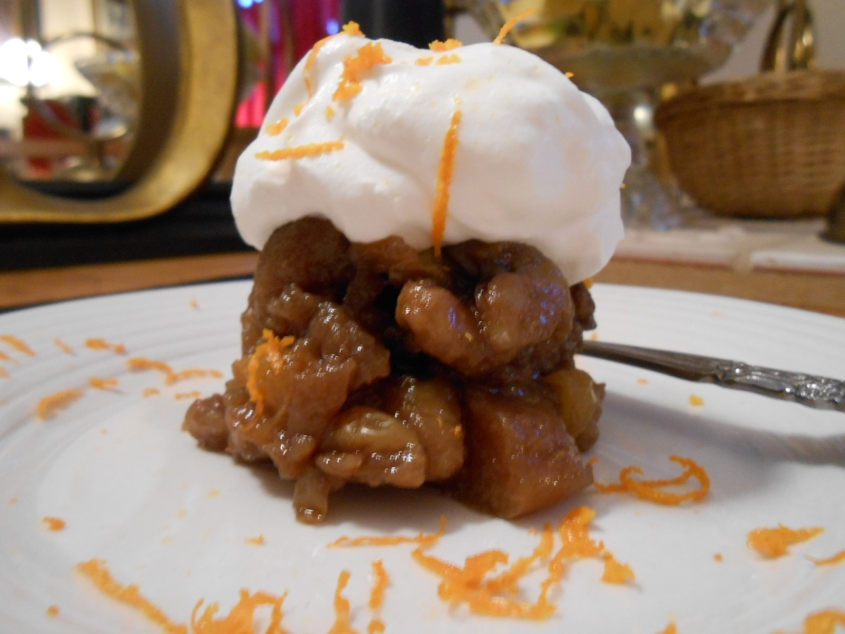 APPLE WALNUT KAHLUA DESSERT