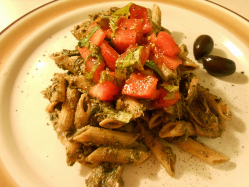 GREEK OLIVE PESTO PENNE
