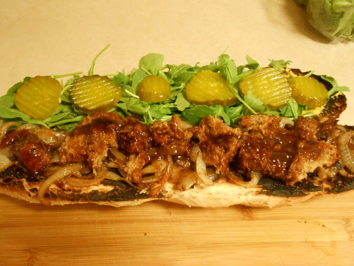 FOOT LONG RIBLET & PICKLE SUB
