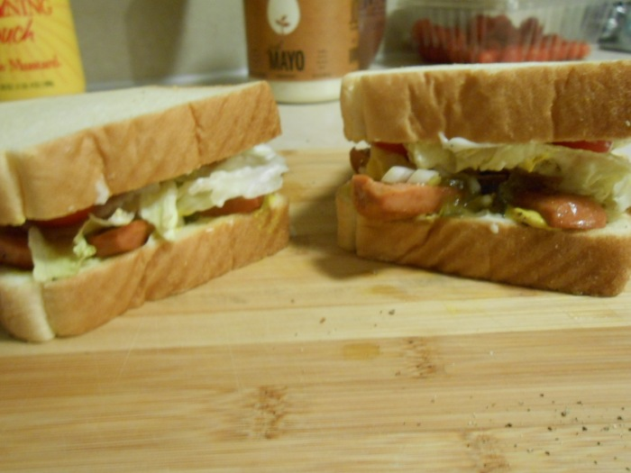 THE VEGGIE HOT DOG SANDWICH