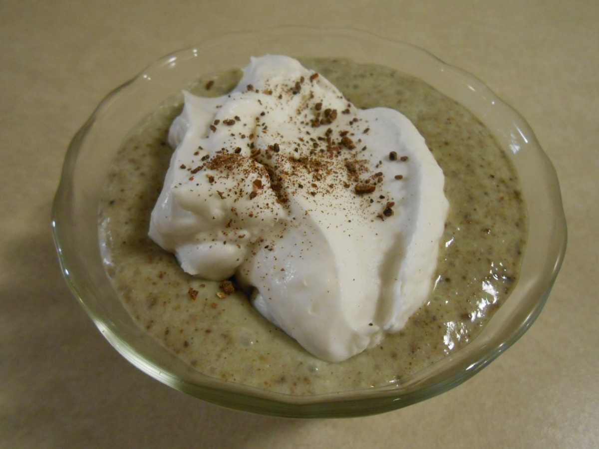 NO-COOK PISTACHIO CACAO BEAN PUDDING