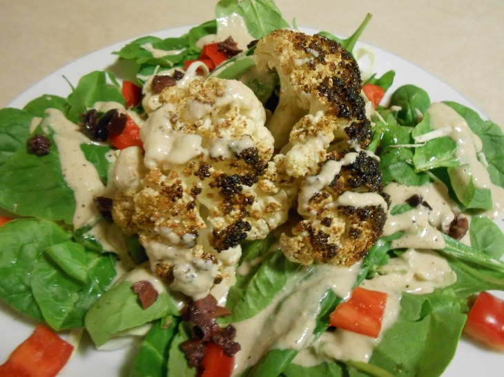 ROASTED CAULIFLOWER SALAD PLATED 2
