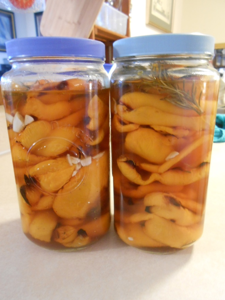 ROASTED YELLOW PEPPERS PICKLED