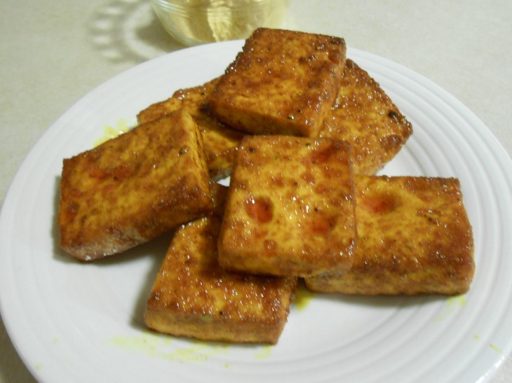 SMOKY PAPRIKA TOFU AFTER BAKED