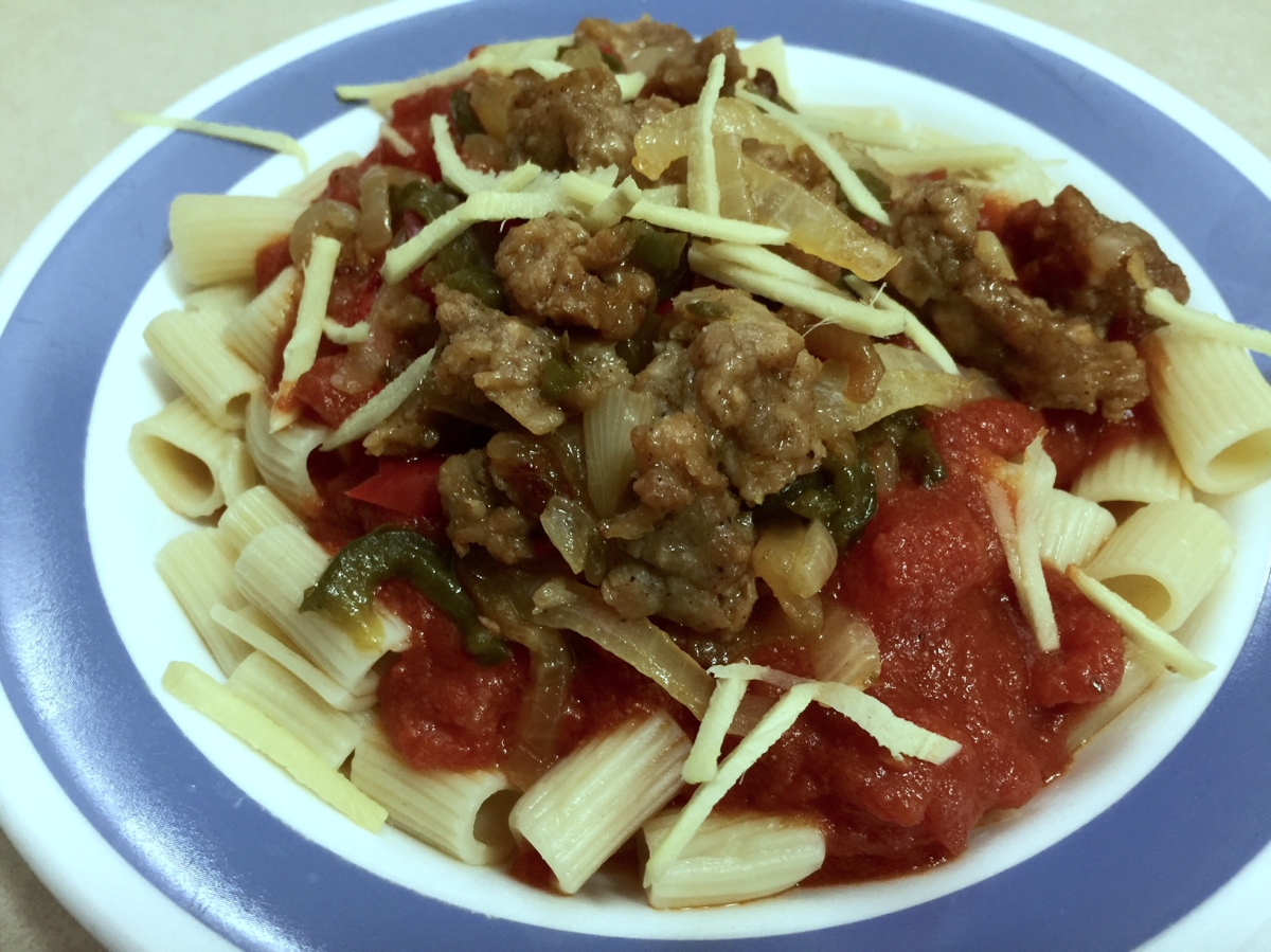AMERICAN CHOP SUEY WITH VEGGIE SAUSAGE