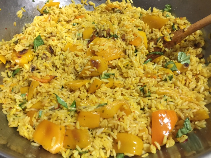 SAFFRON YELLOW PEPPER RICE