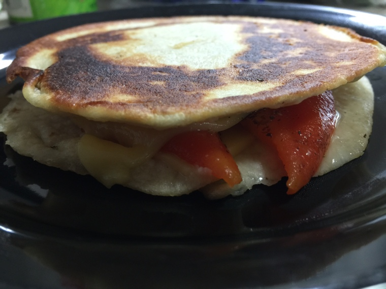 TORTILLA GRILLED CHEESE AND PEPPERS 3