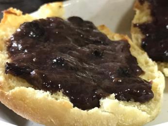 BLUEBERRY PUDDING JAM enlish muffin