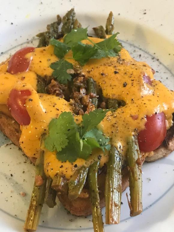 burnt asparagus toast 4