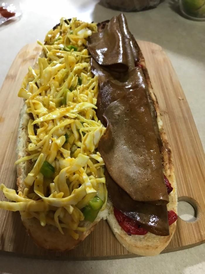 Tofurkey Roast Beef And Slaw Sub