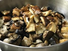PRE-COOKING MUSHROOMS 8