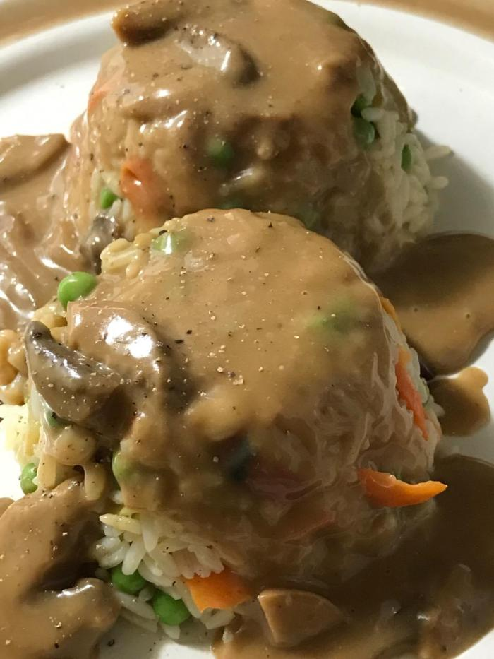 Asian American Fried Rice And CiderGravy