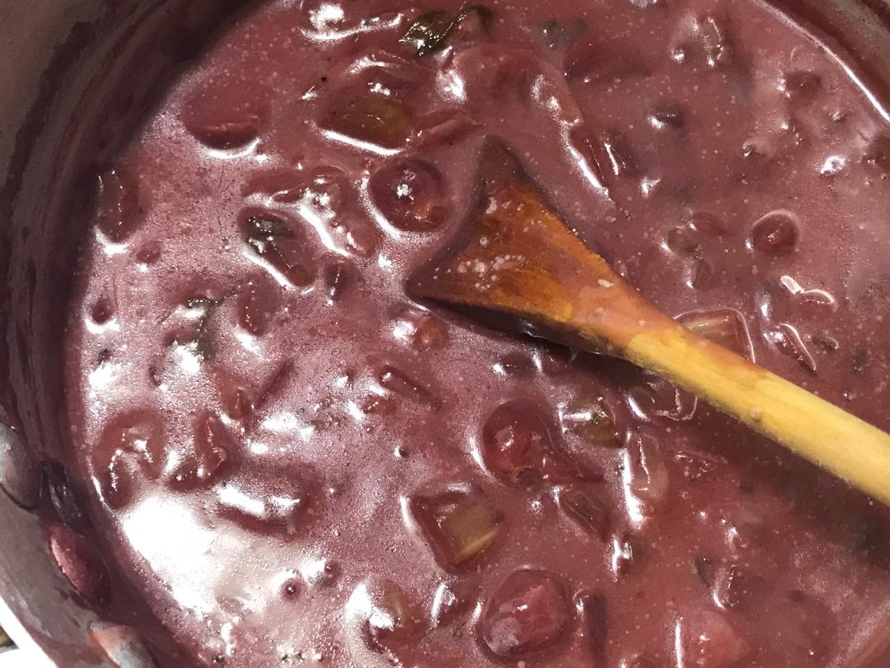 Mustard Sage Red Grape Sauce