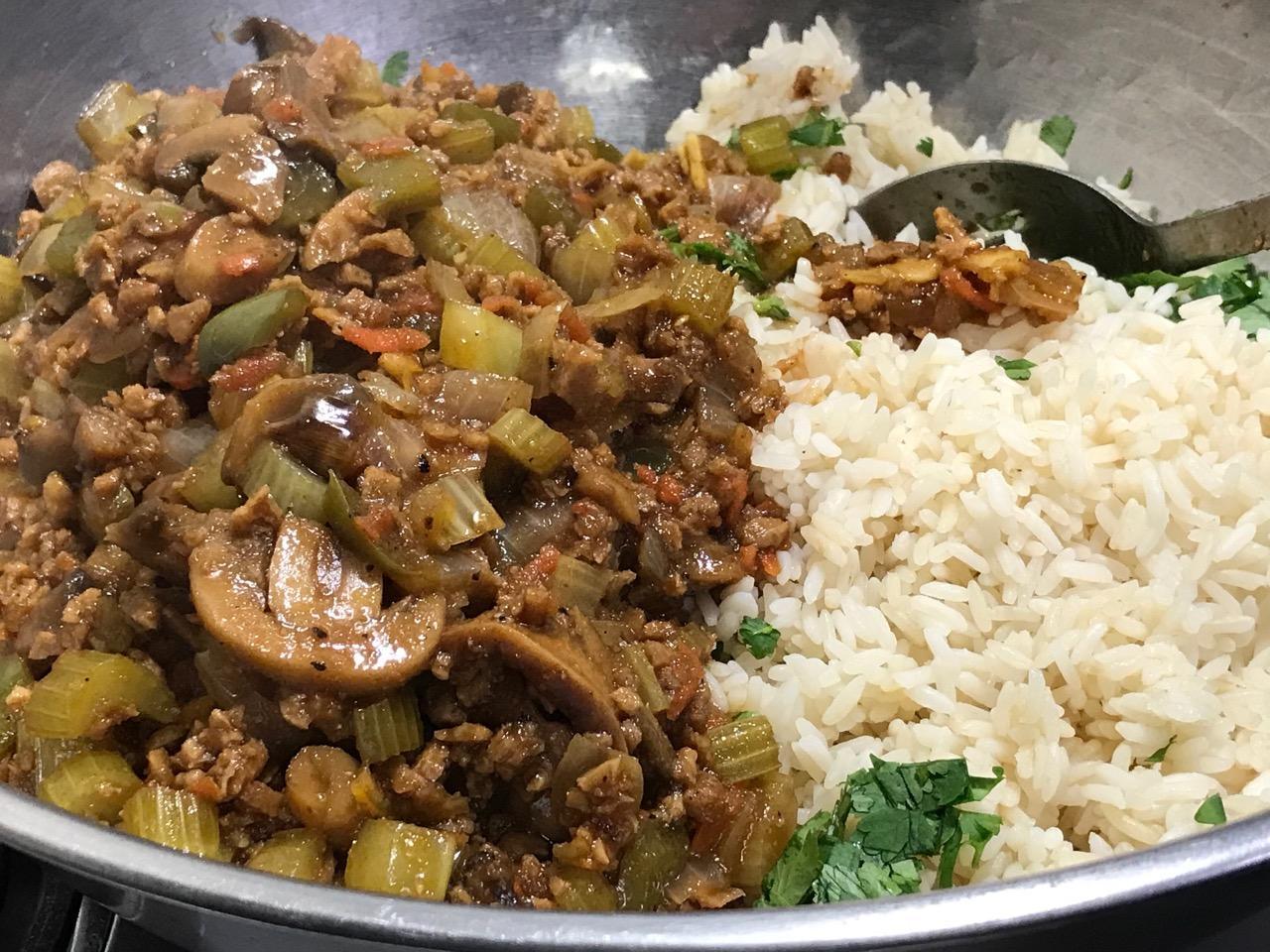 Orange Black Pepper Barbecue Rice